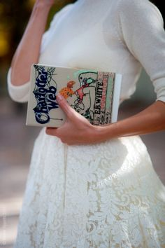 sweet charlotte's web with lace skirt and white cashmere top