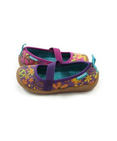 Take a look at this Purple & Pink Peace Spin Flat - Kids by CHOOZE on #zulily today!