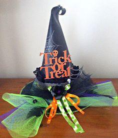 Pretty Spooky Witch Hat Centerpiece