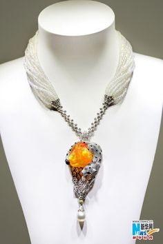 Cartier Pearl Necklace | Cartier, pearls, citrine, diamonds, sapphire necklace~ should be in a ...