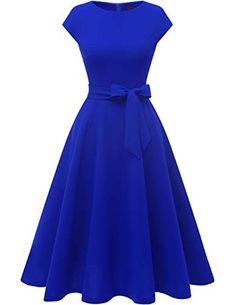 Shop the latest collection of DRESSTELLS Women's Vintage Tea Dress Prom Swing Cocktail Party Dress Cap-Sleeves from the popular stores - all in one Dresses For Teens, Casual Dresses, Fashion Dresses, Midi Dresses, Spring Dresses, Winter Dresses, Long Dresses, Elegant Dresses, Blue Dresses