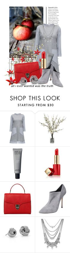 """Untitled #9101"" by queenrachietemplateaddict ❤ liked on Polyvore featuring Lattori, John-Richard, Estée Lauder, Aspinal of London, Casadei, Blue Nile, Lucky Brand, red, grey and gray"
