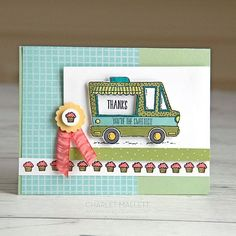 """115 Likes, 3 Comments - Charlet MallettPainted-Orange (@iheartstamp) on Instagram: """"Another sweet Tasty Truck! The images in the set are super fun to color. #tastytrucks #stampinup…"""""""