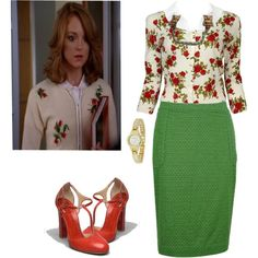 """Emma Pillsbury Hello Red Green"" by lilbailey on Polyvore"