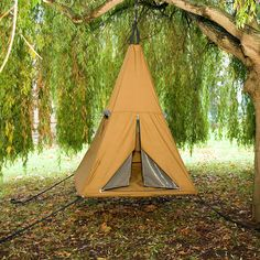 Looking for a heightened camping experience? Try the TreePee camping tent on for size. Suspend the TreePee tent from a tree and let the gentle [. Outdoor Life, Outdoor Fun, Outdoor Camping, Outdoor Gear, Tree Camping, Camping Glamping, Camping Hacks, Camping Photo, Camping Ideas