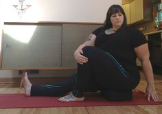 Plus size yoga tips & making friends with your belly.