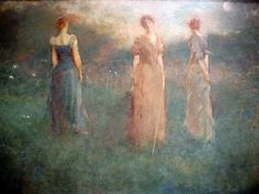 In the Garden by Thomas Wilmer Dewing at Smithsonian American Art Museum Washington DC
