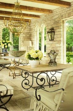 Outdoor space......  a gentle breeze, a couple dear friends or family and a few good hours.