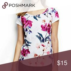 Floral watercolor tee Cute watercolour floral tee from lands end Lands' End Tops Tees - Short Sleeve