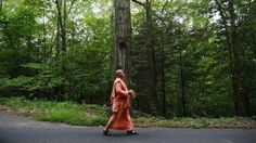 "The Walking Monk Retraces Prabhupada's Journey Bhaktimarga Swami has become famous as ""The Walking Monk"" from his treks on foot four times across his native Canada, as well as across Ireland, Israel,..."