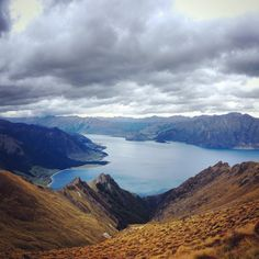Isthmus Peak Trailhead Parking, The Neck, New Zealand — by KelseyGrape. The view over Lake Hawea from Isthmus Peak! Beautiful day hike with not only views of Lake Hawea but also Lake Wanaka...