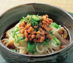 cold natto UDON | 冷やし納豆うどん, Japan