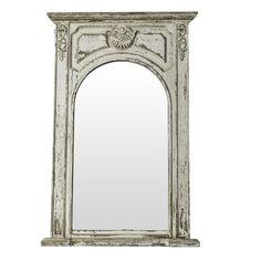 espejo color blanco envejecido rectangular no os recuerda a un