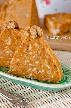 in balkabakli_mozaik_pas - Kuchen Dessert Blog, Dessert Recipes, Desserts, Turkish Recipes, Italian Recipes, Ethnic Recipes, Pasta Cake, Turkish Sweets, Salty Foods