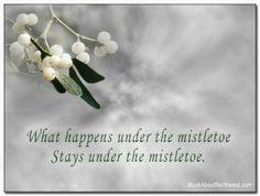 What happens under the mistletoe...