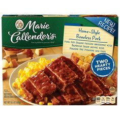 Dig in to homestyle goodness with two hearty boneless pork rib patties, smothered in our signature barbecue sauce. Banquet Meals, Boneless Pork Ribs, Always Hungry, Frozen Meals, Pot Pie, Liverpool Fc, Food Cravings, Grocery Store, Lunch Ideas