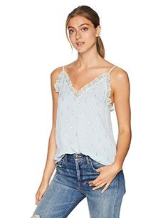 online shopping for Rebecca Taylor Women's Sleeveless Metallic Cami from top store. See new offer for Rebecca Taylor Women's Sleeveless Metallic Cami Jackets For Women, T Shirts For Women, Clothes For Women, Funny Outfits, Joggers Womens, Versace Men, North Face Women, Rebecca Taylor, Vintage Jeans