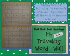 Traveling word wall folder and word family book