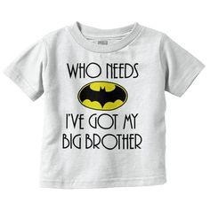 Batman Brother Infant Toddler T-Shirt