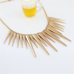 Steampunk Rivet Statement Necklace Gold Silver Plated Necklaces & Pendants Link Chain Jewelry Collar For Gift Party //Price: $US $1.08 & Up To 18% Cashback //     #steampunk