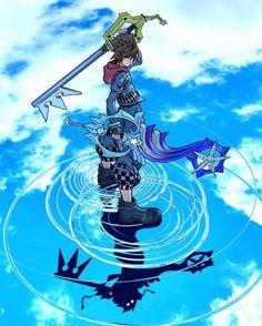 Kingdom Hearts Wallpaper, Kingdom Hearts Fanart, Kingdom Hearts Keyblade, Sora And Kairi, Sora Kh, Kindom Hearts, V Games, Video Game Art, Animes Wallpapers