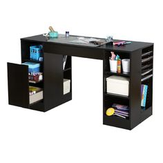 South Shore Crea Craft Table, Chocolate - Home - Furniture - Home Office Furniture - Desks & Hutches