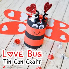 I have a really cute Love Bug craft to share with you today that is easy to make and fun to fill with Valentine's Day goodies for the kids. You know I love using things around the house to upcycle in a kid craft kind of way, so this love bug is made out of a tin …