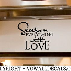 Kitchen Wall Decal Season Everything With Love