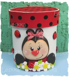 Liquids & squids, kids are kids and they'll love this!♥bingT✿ܓ Flower Pot Crafts, Clay Pot Crafts, Foam Crafts, Flower Pots, Diy And Crafts, Crafts For Kids, Arts And Crafts, Paper Crafts, Ladybug Crafts