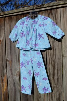 Flannel Pajama's for Girl Size 4 by love2sew on Etsy, $22.00