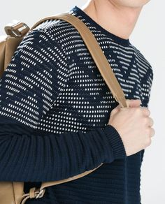 Image 5 of GLITTER INTARSIA SWEATER from Zara