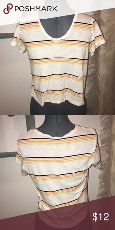 d141e7be0bf Striped crop Me to we brand. Worn a few times. No flaws Tops Crop