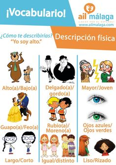 vocabulario descripción física