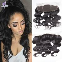 Malaysian Body Wave Lace Frontal Closure Bleached Knots 13X4 Virgin Human Hair…