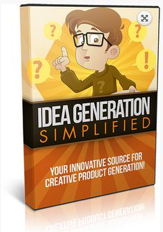 Idea Generation Simplified -   1 hour video shows you how to quickly find ideas for new products, websites, and more. Perfect for newbies, advanced, and expert marketers. Innovative strategies to profit wildly with your ideas