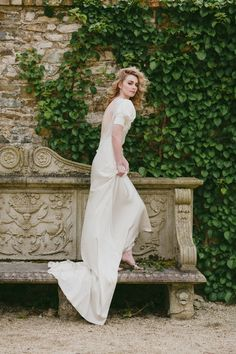 Lovely dress by Patrick Casey.  An Irish Midsummer Night's Wedding ✈ Part Two | Model: Emma Connell for Distinct Model Management. Hair: Joe Hayes for Toni and Guy. Photography: Paula O'Hara.