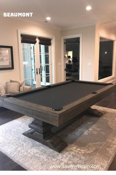 Beaumont Pool Table featured at Sawyer Twain