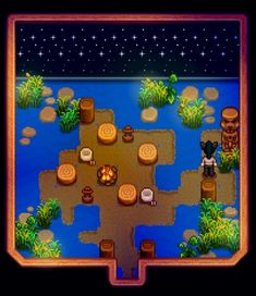 Island Camping Under the Night Sky 🌙 >Stardew Valley>Shed Design Layout>By: LadyAmalthea Aluminium Greenhouse, Dome Greenhouse, Small Greenhouse, Shed Design, Diy Design, Design Ideas, Interior Design, Wind Damage, Wooden Greenhouses