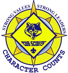 Classic. Cub Scouts emblem and words. Nice.