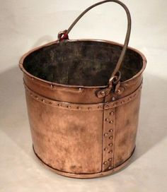 A DUTCH COPPER MILK PAIL