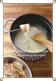 【ストウブ鍋(ココット16cm)】チーズフォンデュ|レシピブログ