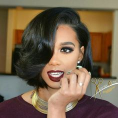 Image uploaded by Shaolin. Find images and videos about style and haircut on We Heart It - the app to get lost in what you love. Short Sassy Haircuts, Short Bob Hairstyles, Black Girls Hairstyles, Weave Hairstyles, Pretty Hairstyles, Short Hair Cuts, Short Hair Styles, Crimped Hair, Hair Affair