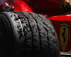 #F1 tire after a race. Get last minute Formula 1 passes with www.tikbuzz.co.uk