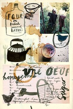 Another montage design for recipe book.