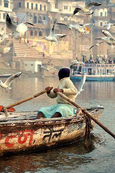 INDIA - Boatman - Varanasi