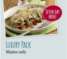 Luxury Pack (Mains Only) Maine, Packing, Meals, Chicken, Luxury, Ethnic Recipes, Desserts, Food, Bag Packaging
