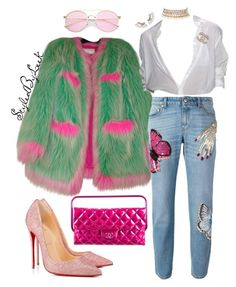 """""""StyledByLeek"""" by stylebywho on Polyvore featuring Chanel, Alexander McQueen, Christian Louboutin and Amrita Singh"""
