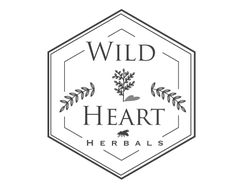 Vintage inspired logo design for Wild Heart Herbal by the logo boutique