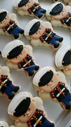 United States Marine Corps Cookies-Welcome Home Party-Semper Fi TheIcedSugarCook. - Home Decor Military Send Off Party Ideas, Military Retirement Parties, Military Party, Retirement Cakes, Retirement Planning, Retirement Countdown, Army Party, Retirement Quotes, Marine Corps Cake