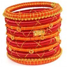 Anmol Indian Handcraft Trending Products Latest Design Silk Thread Bangles